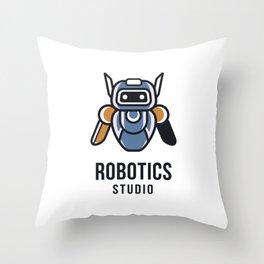 Robotics Studio Logo Template Throw Pillow
