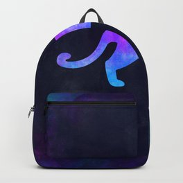 COUGAR IN SPACE // Animal Graphic Art // Watercolor Canvas Painting // Modern Minimal Cute Backpack