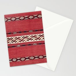 Triangle Stripe Kilim IV 19th Century Authentic Colorful Red Black White Vintage Patterns Stationery Cards