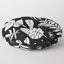 white foliage Floor Pillow