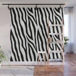 Black & white zebra fur pattern 03 Wall Mural