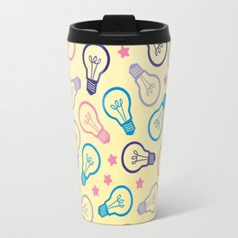 Cute Pastels Light bulb Pattern Travel Mug