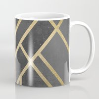 deco Mugs featuring Art Deco Geometry 1 by Elisabeth Fredriksson