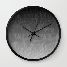 Black and Grey Ombre Wall Clock