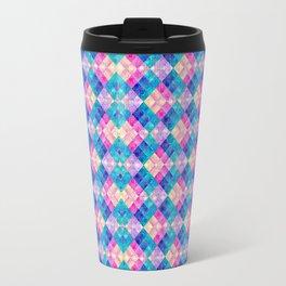 Pansy Checks Travel Mug