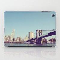 brooklyn bridge iPad Cases featuring Brooklyn Bridge  by Shilpa