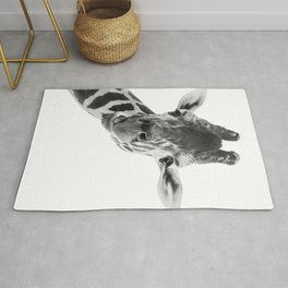 Giraffe Portrait // Grey Wild Animal Cute Zoo Safari Madagascar Wildlife Nursery Decor Ideas Rug