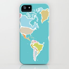 Map Print iPhone Case