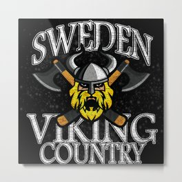 Sweden Viking Country Metal Print