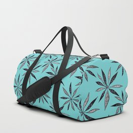 Elegant Thin Flowers With Dots And Swirls Duffle Bag
