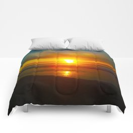 Sunrise over the Bay Comforters
