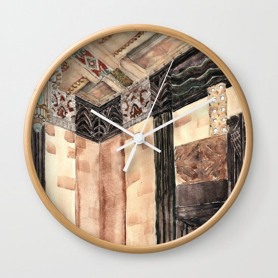 inside the Art Deco spaceship Wall Clock