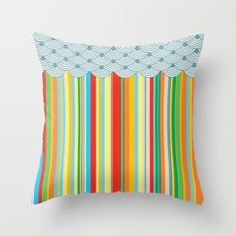 the stripes Throw Pillow