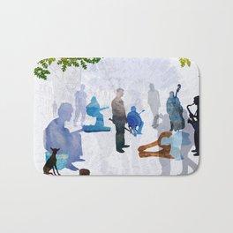 Street musicians Bath Mat