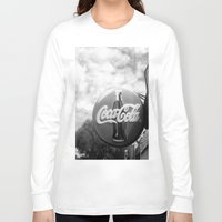 coca cola Long Sleeve T-shirts featuring Coca Cola  by Chris' Landscape Images & Designs