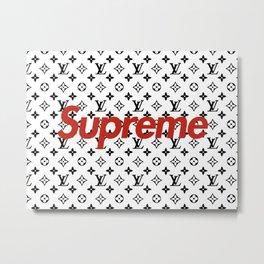 Supreme vuitton Metal Print
