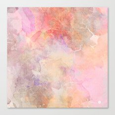 Marble and abstract lines Canvas Print