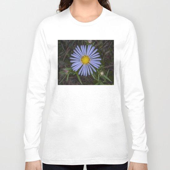 Blue Wildflower Long Sleeve T-shirt