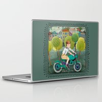 motorcycle Laptop & iPad Skins featuring Motorcycle by Rebekka Ivacson
