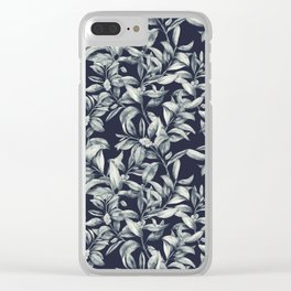 Winter Leaves 6 Clear iPhone Case