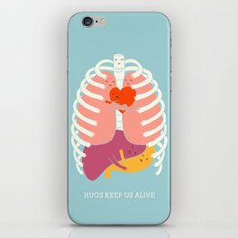 Hugs keep us alive iPhone Skin
