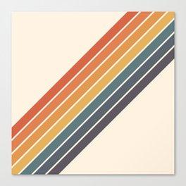 Arida -  70s Summer Style Retro Stripes Canvas Print