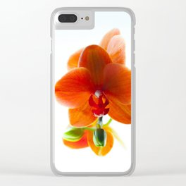 Orchid Bloom Clear iPhone Case