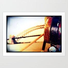 BRIDGE BY SEA Art Print