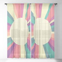 70s Retro Sun Sunshine Sheer Curtain
