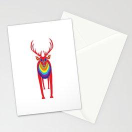 Animal Mardi Gras: Stag Stationery Cards