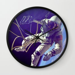Ed White First American Spacewalker Wall Clock
