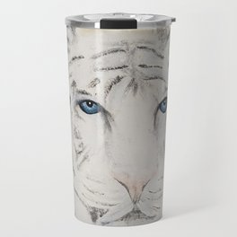 Original Art - White Tiger Original Painting (highly textured)  #white Travel Mug