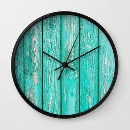 Green Old Wood Wall Clock