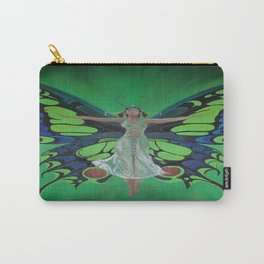 Art Nouveau Vintage Flapper With Butterfly Wings Carry-All Pouch