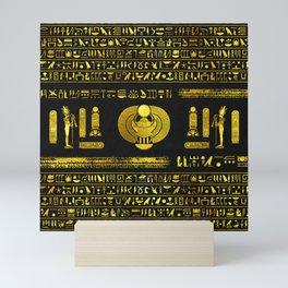 Ancient Egyptian Scarab Gold Obsidian Mini Art Print