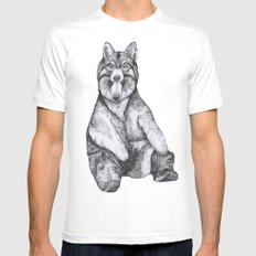 Wear Wolf White MEDIUM Mens Fitted Tee