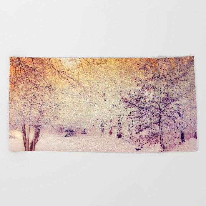 Snow Dream Beach Towel