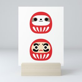 Sloth Daruma Doll Mini Art Print