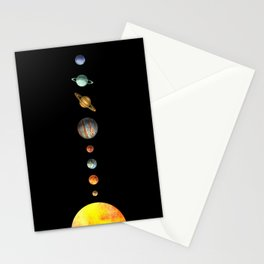 Solar System  Stationery Cards