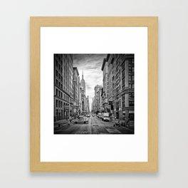 NEW YORK CITY 5th Avenue   Monochrome Framed Art Print