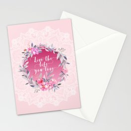 Live the life you love Mandala Stationery Cards
