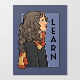 Learn Canvas Print