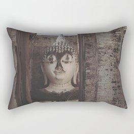 Wat Si Chum Buddha at Sukhothai Historical Park Rectangular Pillow