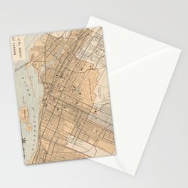 Vintage Map of Montreal (1906) Stationery Cards