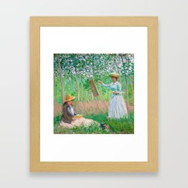 In the Woods at Giverny by Claude Monet, 1887 Framed Art Print