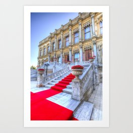 Ciragan Palace Istanbul Red Carpet Art Print