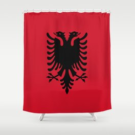 flag of Albania Shower Curtain