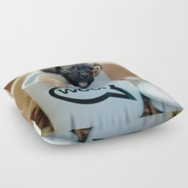 Puppy in a Cup Woof Dog Brown Pet Floor Pillow