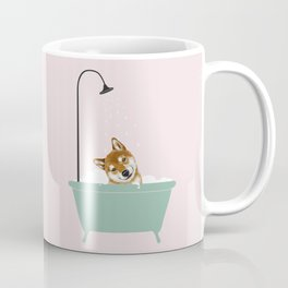 Shiba Inu Enjoying Bubble Bath Coffee Mug