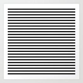 White Black Stripe Minimalist Art Print